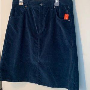 💜 2/$35 Corduroy Midi Skirt (Dark Turquoise)